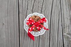 Feestelijke verpakte chocolade eigengemaakte koekjes Royalty-vrije Stock Afbeelding