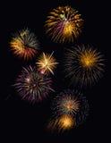 Feestelijke vuurwerkvertoning Royalty-vrije Stock Afbeeldingen