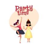 Feestvarken en haar vriend die bij partij dansen, die pret hebben Royalty-vrije Stock Foto's