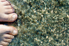 Feet. On seashore Royalty Free Stock Photography