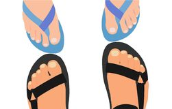 Feet vector illustration