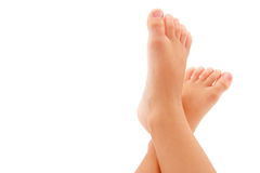 Feet. Child feet isolated on white Stock Photography