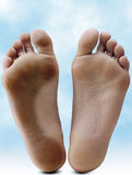 Feet. Clean and dirty Royalty Free Stock Photos