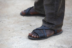 Feet of an African man Royalty Free Stock Image