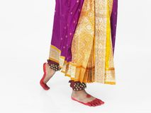 Feet of asian classical dancer Royalty Free Stock Photos