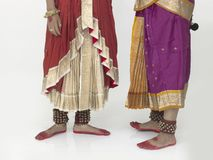 Feet of asian classical dancers Stock Photos