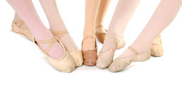 Feet of Ballet Students Stock Photos