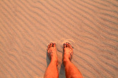 Feet on beach Stock Images