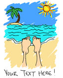 Feet on the beach Royalty Free Stock Photography