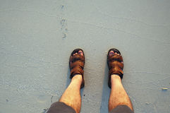 Feet in the Beach Royalty Free Stock Photo