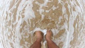 Feet on the beach. In dikwella sri lanka stock footage