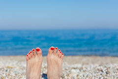 Feet on the beach Royalty Free Stock Image