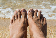 Feet on the beach Royalty Free Stock Images