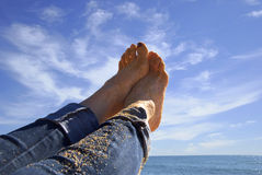 Feet in the air Royalty Free Stock Photos