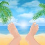 Feet on the beach Stock Photos