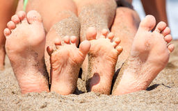 Feet on a beach Royalty Free Stock Images