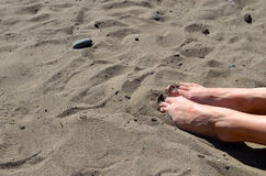 Feet on beach Royalty Free Stock Images