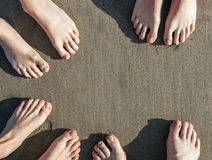 Feet at the beach Royalty Free Stock Photography
