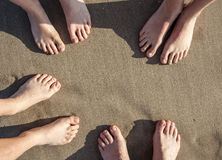Feet at the beach Royalty Free Stock Photos