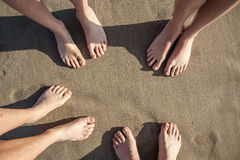 Feet at the beach Royalty Free Stock Image