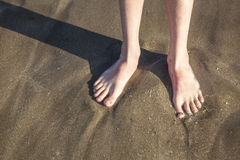 Feet at the beach Stock Image