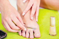 Feet beauty treatment Royalty Free Stock Photography