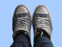 Feet and blue sky Royalty Free Stock Photography