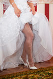 Feet bride Stock Photography