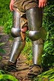 Feet in chivalrous protection Royalty Free Stock Photo
