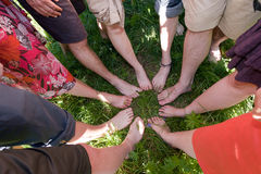 Feet in a circle Royalty Free Stock Images