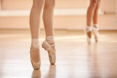 Feet close up of dancer. Dance class royalty free stock photo