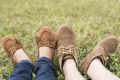 The feet closeup royalty free stock photos