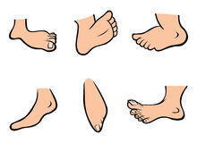 Feet collection Royalty Free Stock Photos