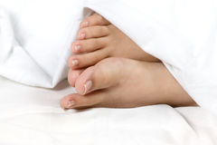 Feet at comfort royalty free stock images