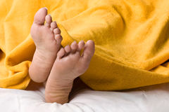Feet at comfort stock images