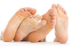 Feet couple Royalty Free Stock Image