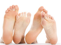 Feet couple Royalty Free Stock Photos