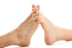 Feet couple Royalty Free Stock Photography