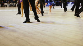 Feet dancing athletes dance jive. Competitions in sport dance stock video footage