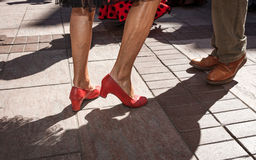 Feet of  dancing flamenco in Andalucia Spain Stock Photo