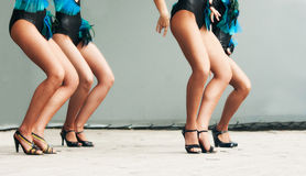 Feet dancing women on stage Royalty Free Stock Photo