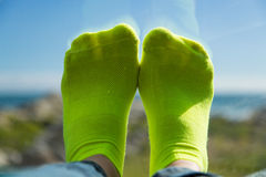 Feet on the dash Royalty Free Stock Image