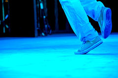 Feet of a duo of hip-hop performers Royalty Free Stock Images