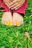 Feet enjoy nature Stock Photo