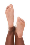 Feet of ethnic black African-American woman Royalty Free Stock Photography