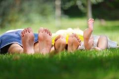 Feet of Family Stock Photo