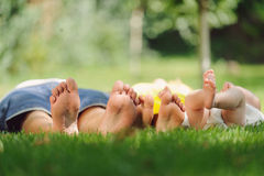 Feet of Family Royalty Free Stock Images