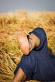 Feet in the field Stock Image