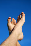 Feet fingers. Man legs relax health leisure Royalty Free Stock Image