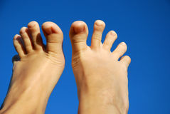 Feet fingers Stock Photography